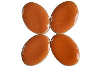 (Orange) - BestTeam Mosaic Tiles, Micro Ceramic Mosaic Craft Art Oval Ultrathin Ceramic Manual DIY Mosaic Decor 120 Pcs Jewellery Earring Porcelain Mosaic Tiles (Orange)