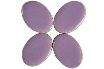 (Purple) - BestTeam Mosaic Tiles, Micro Ceramic Mosaic Craft Art Oval Ultrathin Ceramic Manual DIY Mosaic Decor 120 Pcs Jewellery Earring Porcelain Mosaic Tiles (Purple)