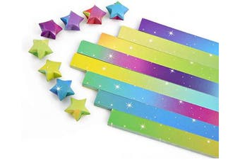 (Rainbow Starry Sky, 1120 Sheets) - 1120 Sheets Origami Paper Stars DIY Hand Crafts Origami Lucky Star Paper Folding Origami Star Paper Strips for Paper Arts Crafts (Rainbow Starry Sky, 1120 Sheets)