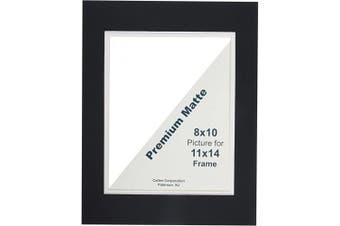 Callen DHC1114-23626 Double Hand Cut Photo Mat with Bevel Edge, 28cm x 36cm , Black/White Core