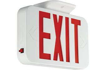 HUBBELL CER LED Emergency exit Sign, 29cm x 5.1cm x 21cm , Silver
