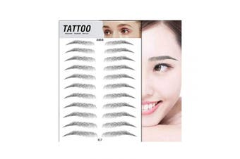 (E17) - Aaiffey 4D Hair-like Authentic Eyebrows, Imitation Ecological Lazy Natural Tattoo Eyebrow Stickers Waterproof for Woman & Man Makeup Tool 10 Pcs (E17)