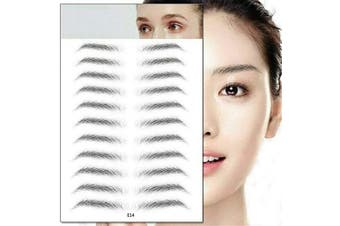 (E14) - Aaiffey 4D Hair-like Authentic Eyebrows, Imitation Ecological Lazy Natural Tattoo Eyebrow Stickers Waterproof for Woman & Man Makeup Tool 10 Pcs