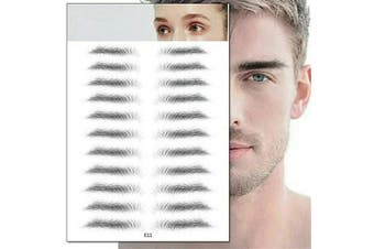 (E11) - Aaiffey 4D Hair-like Authentic Eyebrows, Imitation Ecological Lazy Natural Tattoo Eyebrow Stickers Waterproof for Woman & Man Makeup Tool 10 Pcs