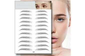 (E09) - Aaiffey 4D Hair-like Authentic Eyebrows, Imitation Ecological Lazy Natural Tattoo Eyebrow Stickers Waterproof for Woman & Man Makeup Tool 10 Pcs