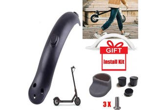 (Black) - Konesky Rear Mudguard, Replacement Compatible with Xiaomi Mijia M365 Electric Scooter Fender Mud Guard Fender Repair Part with Hook