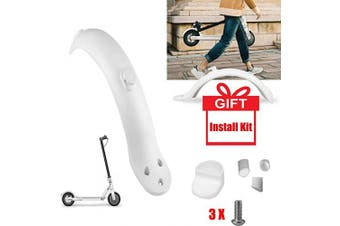 (White) - Konesky Rear Mudguard, Replacement Compatible with Xiaomi Mijia M365 Electric Scooter Fender Mud Guard Fender Repair Part with Hook