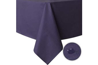 (140cm  x 140cm , Purple) - sancua 100% Waterproof Rectangle PVC Tablecloth - 140cm x 140cm - Oil Proof Spill Proof Vinyl Table Cloth, Wipe Clean Table Cover for Dining Table, Buffet Parties and Camping, Purple