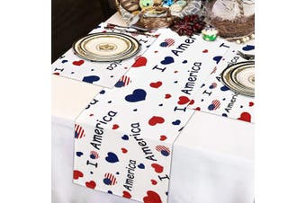 (1pcs Table Runner+4pcs Placemats, Multicolor) - Alishomtll 4th of July Table Runner with 4 Placemats Stars and Stripes Printed Table Runners Set Independence Day Decor for Dinner Parties, Catering Events, Indoor and Outdoor Parties