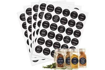 (Flourish) - Jot & Mark Spice Jar Labels | Modern-Style Stickers for Crafters, Home Cooks, and Spice Rack Organisers Set of 150 Labels (Flourish)