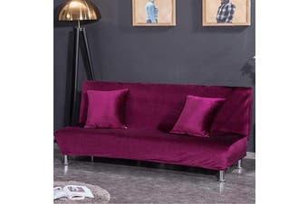 (Medium Cover(160cm  - 190cm ), Purple) - CHITONE Sofa Bed Cover Futon Slipcover Full Folding Plush Sofa Cover Protector Sofa Slipcover Medium Size,Purple