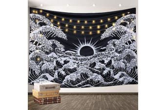(130*150CM, Black) - Aamebay Black and White Tapestry Wall Hanging,Hippie Bohemian Wall Tapestry for Living Room Bedroom Dorm Decor Wall BlanketWall Tapestry for Living Room Bedroom Dorm Decor Wall Blanket (130150CM)