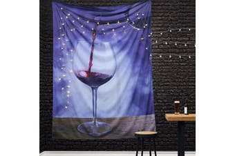 (130*150CM, Blue) - A AMEBAY Grape Wine Tapestry Wall Hanging, Multifunctional Hippie Bohemian Wall Tapestry for Living Room Bedroom Dorm Decor Wall Blanket (130150CM)