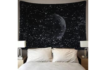 (130cm  x 150cm , Moon Constellations) - Moon Constellations Tapestry Wall Tapestry Bohemian Wall Hanging Tapestries Wall Blanket Wall Art Wall Decor Beach Tapestry Sunset Tapestry Indian Wall Decor (Moon Constellations, 130cm x 150cm )