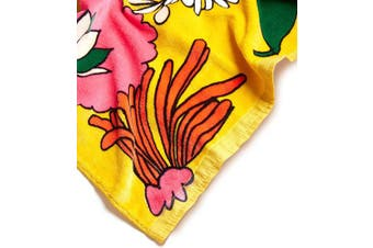(Superbloom) - ban.do Beach, Please! Giant Oversize Yellow Floral Terry Cloth Beach Towel, Superbloom