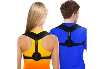 (25-130cm  in chest) - New 4WELL Posture Corrector for Women & Men - Posture Brace Strap - Comfortable Spinal Alignment Posture Support - Adjustable Better Back Straightener - Slouching Brace Fixer