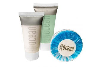 (6 Piece) - Ocean Collection BNB Amenity Travel Bath and Shower Set (6 Piece)