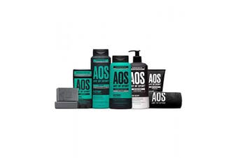(Victory) - Art of Sport Total Routine Kit, 7pc Men's Body Care Gift Set with Aluminium-Free Deodorant, Charcoal Body Wash, Anti-Dandruff Shampoo + Conditioner, Bar Soap, Lotion, Charcoal Face Wash & Gym Towel