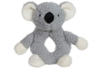 (Ra-koala) - Apricot Lamb Baby Lovey Koala Soft Ring Rattle Toy, Plush Stuffed Animal for Newborn Soft Hand Grip Shaker Over . Grey Koala, 10cm )