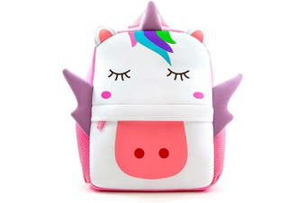 (Large Unicorn) - Toddler Backpack, Waterproof Children School Backpack, Neoprene Animal Schoolbag for Kids, Lunch Box Carry Bag for Boys Girls, Large Unicorn