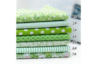 (50cm *50cm , Green) - 7PCS Precut 19.1830cm Quilting Fabric Charm Squares,No Repeat Design Cotton Fabric for Sewing Patchwork Issue DIY Green