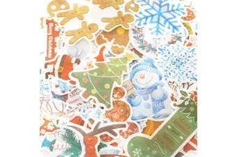 (Silver Christmas) - 180Pcs Christmas Deco Stickers Set Stickers for Journal Planner DIY Crafts Diary (Silver Christmas)