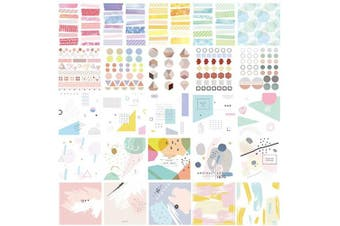 (Free Colors-ts-scyx) - 60 Sheets Stickers Set Free Cutting Scrapbooking Stickers for Journal Planner DIY Crafts Scrapbooking Embelishment Diary 30 Designs Each 2 Sheets (Free Colours-ts-scyx)