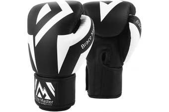 (410ml, Box Black) - Brace Master Boxing Gloves Series of DG 2.0 Heavy Bag Gloves Sparring Gloves for Men Women, Suit for MMA Boxing Kickboxing Sparring & Training