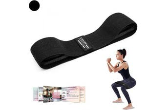 (Small (36cm )) - SYOSIN Resistance Bands, Non-Slip Exercise Bands for Legs and Butt, Fabric Bands with Cooling Towel & Carry Bag & Exercise Guidelines for Pilates (Small Level)