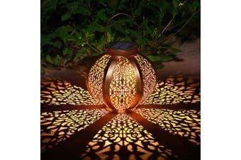 (Solar Lantern a) - Ulmisfee Solar Big Lantern Outdoor Solar Hanging Lanterns Solar Garden Lights Patio Decor Metal Yard Art Garden Accessories Outdoor Decorations for Porch (Solar Lantern A)