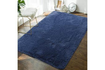 (1.2m x 1.8m, Light Navy) - Andecor Soft Fluffy Bedroom Rugs - 1.2m x 1.8m Indoor Shaggy Plush Area Rug for Boys Girls Kids Baby College Dorm Living Room Home Decor Floor Carpet, Light Navy