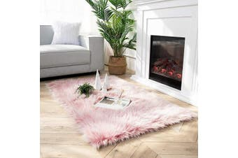 (0.9m x 1.5m Rectangle, Pink) - Ashler Soft Faux Peacock Feathers Chair Couch Cover Area Rug for Bedroom Floor Sofa Living Room Pink-Rectangle 0.9m x 1.5m