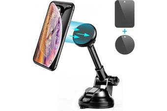Magnet Car Mount,Magnetic Universal Car Mount Holder,Rotate Magnetic Cell Phone Holder Magnetic Cell Phone Mount for iPhone 11 Pro Xs Max X XR 8 7 6 Samsung Note 10 9 S11 S10 S9 S8 Plus