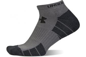 (Shoe Size: Mens 4-8, Womens 6-9, Red Marl/Assorted) - Under Armour Adult Elevated Performance No Show Socks, 3-Pairs
