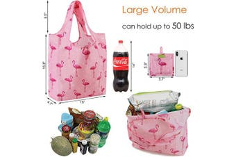 (Red green pink cyan-blue, black blue) - Tote Bags Groceries Reusable Gift Bags Mixed Bags Designs for Shopping RIPstop 23kg XLarge Machine Washable Fashion Bags with Pouch Dog Paw Cactus Flamingo Stripes Dots …