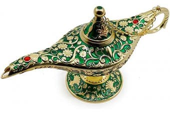 (Golden Green) - AVESON Classic Vintage Collectable Rare Legend Aladdin Magic Genie Costume Lamp Home Table Decoration & Gift, Golden Green