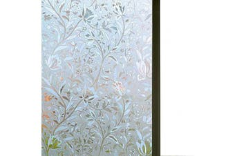 (45cm x 300cm ) - Niviy Window Film Privacy Non-Adhesive Window Film 45cm by 300cm Glass Film Decorative Window Films Static Cling Anti UV Heat Control for Home Kitchen Office