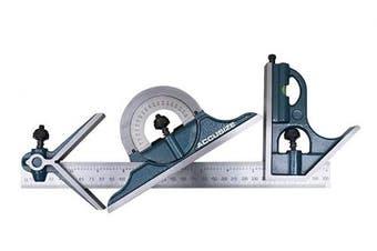 "(12""/300mm) - Accusize Industrial Tools Combination Square Set, 12""/300mm, 4 Pcs/Set, 0000-8108"