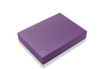 (Purple) - Node Fitness Premium Exercise Balance Pad - 16 x 30cm x 6.4cm Large Foam Mat for Yoga, Fitness Training, Physical Therapy