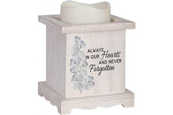 (Never Forgotten Memorial) - The Bridge Collection Flameless LED Candle with Wooden Base (Never Forgotten Memorial)