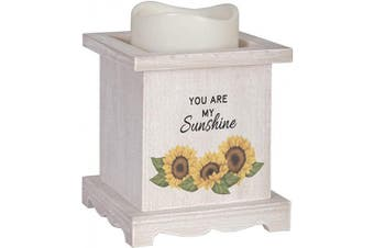 (You Are My Sunshine) - The Bridge Collection Flameless LED Candle with Wooden Base (You are My Sunshine)