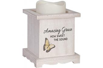 (Amazing Grace) - The Bridge Collection Flameless LED Candle with Wooden Base (Amazing Grace)