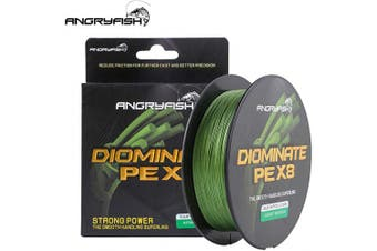 (8.2kg/0.15MM-547YD, ArmyGreen) - ANGRYFISH 8 Strands Braided Fishing Line-Excellent Tensile Smooth-Super Strong for Saltwater and Freshwater-High Value