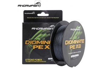 (8.2kg/0.15MM-547YD, Black) - ANGRYFISH 8 Strands Braided Fishing Line-Excellent Tensile Smooth-Super Strong for Saltwater and Freshwater-High Value