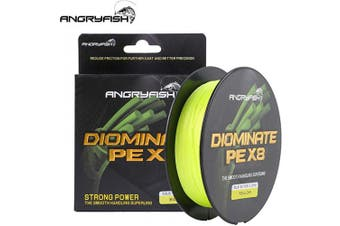 (27kg/0.37MM-547YD, Yellow) - ANGRYFISH 8 Strands Braided Fishing Line-Excellent Tensile Smooth-Super Strong for Saltwater and Freshwater-High Value