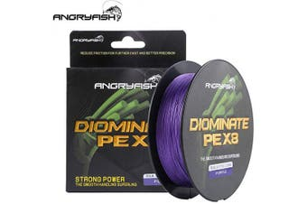 (8.2kg/0.15MM-547YD, Purple) - ANGRYFISH 8 Strands Braided Fishing Line-Excellent Tensile Smooth-Super Strong for Saltwater and Freshwater-High Value
