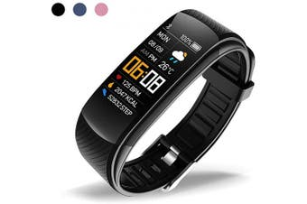 (Black) - oriver C5 Fitness Tracker, Activity Tracker Watch with Heart Rate Monitor, Pedometer Watch for Kids Women and Men