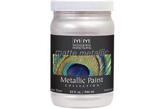 (Quart, Mettalic Oyster) - Modern Masters MM705 Matte Metallic Paint, Oyster, Quart