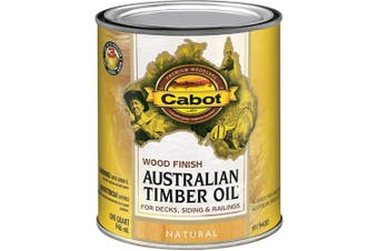 (Quart, Low Voc Natural) - Cabot 140.0019400.005 Australian Timber Oil Water Reducible Stain, Quart, Low Voc Natural