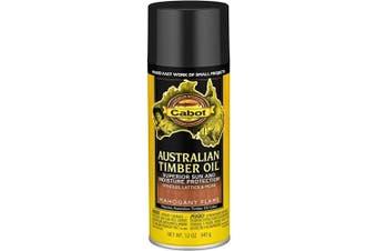 (Aerosol, Mahogany Flame) - Cabot 140.0003459.076 Australian Timber Oil, Aerosol, Mahogany Flame